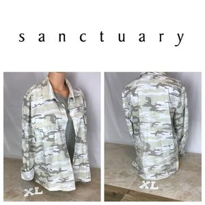 Anthropologie  Light Camo Jacket sz XL